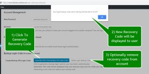 Shield Security: Login Recovery Codes User Profile Options